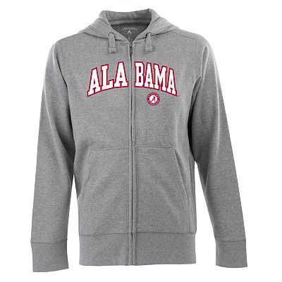 Alabama Crimson Tide Signature Zip Front Fleece Hoodie - Men
