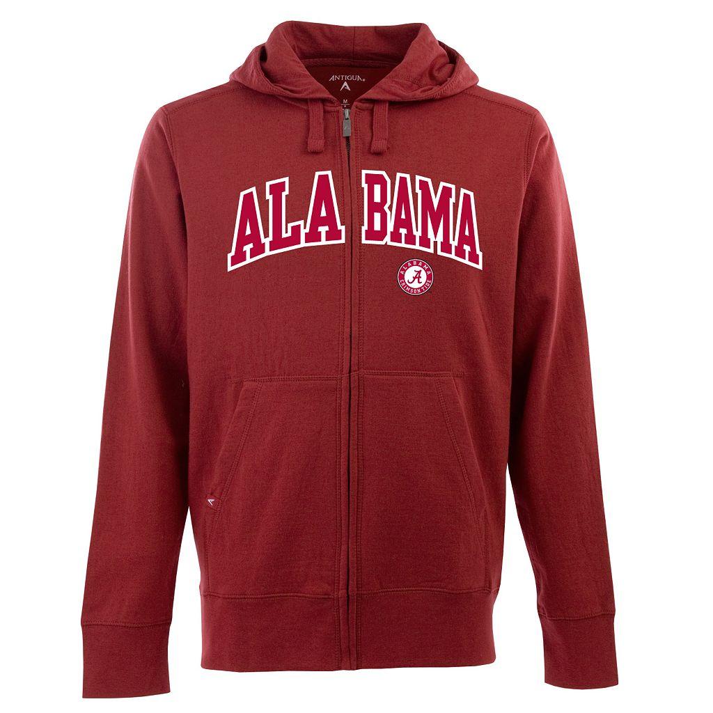 Men's Alabama Crimson Tide Signature Zip Front Fleece Hoodie