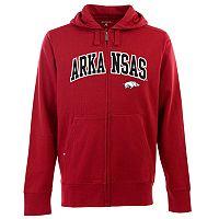 Men's Arkansas Razorbacks Signature Zip Front Fleece Hoodie