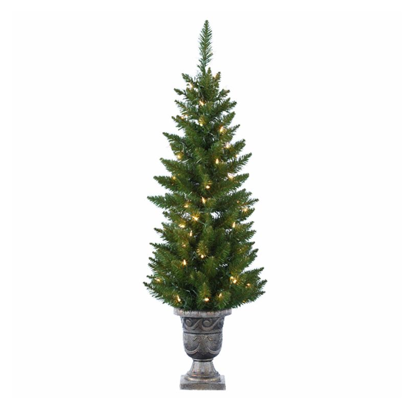 Kurt Adler 4-ft. Pine Pre-Lit Potted Artificial Christmas Tree (Green)