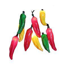 Kurt Adler Chili Pepper String Light Set