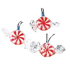 Kurt Adler Peppermint Candy String Light Set