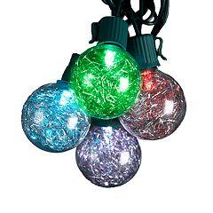 Kurt Adler LED Tinsel Ball String Light Set