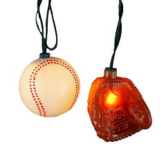 Kurt Adler Ball & Glove String Light Set