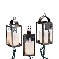 Kurt Adler Brass Lantern String Light Set