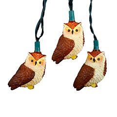 Kurt Adler Owl String Light Set
