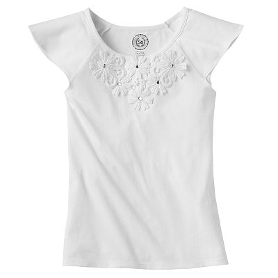 SO Floral Crochet Top - Girls 7-16