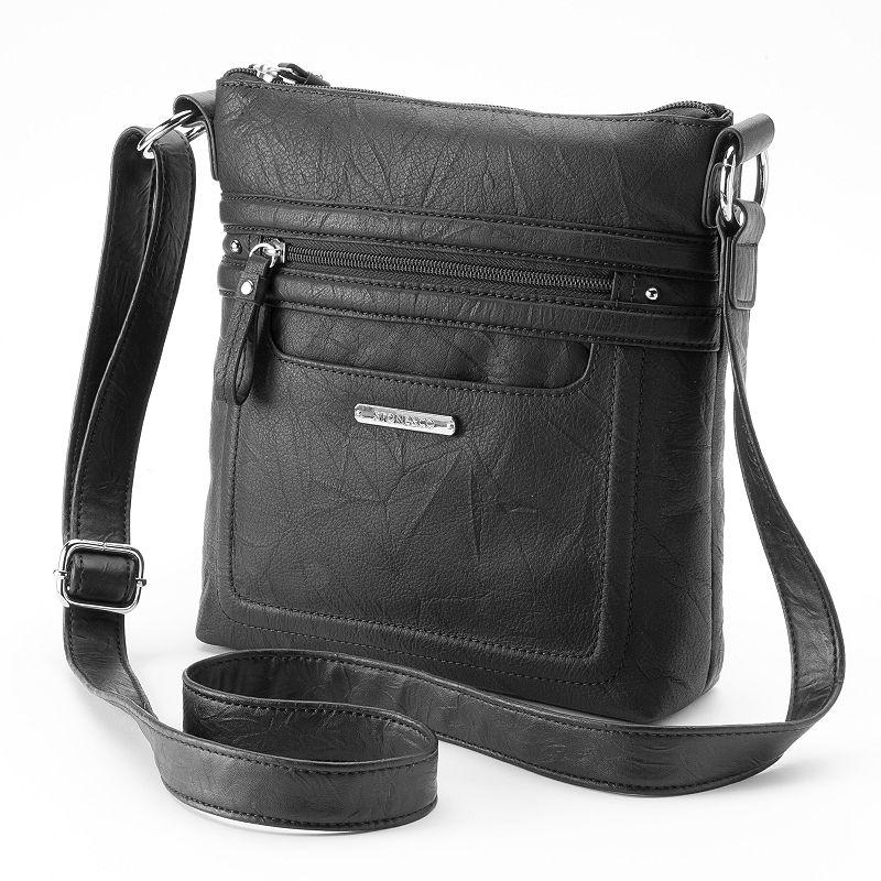 Stone and Company Lydia Leather crossbody Bag, Black