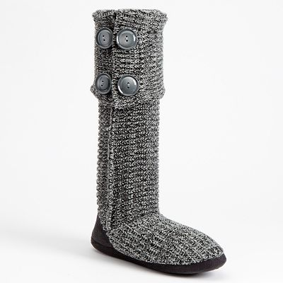 Candie's Sweater Knit Boot Slippers