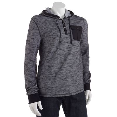 Rock and Republic Abstract Hooded Henley