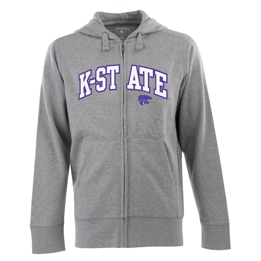 Men's Kansas State Wildcats Signature Zip Front Fleece Hoodie