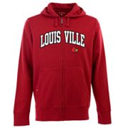Louisville Cardinals Signature Zip Front Fleece Hoodie - Men