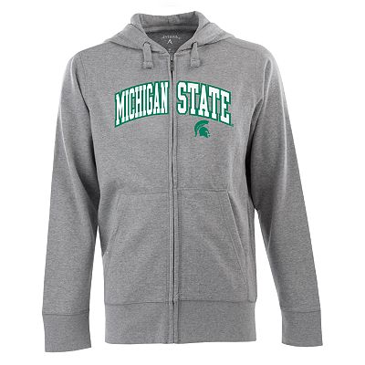 Michigan State Spartans Signature Zip Front Fleece Hoodie - Men