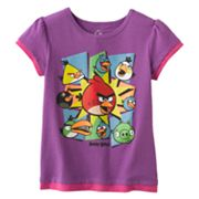 Angry Birds Mock-Layer Glitter Tee - Girls 4-6x