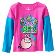 Angry Birds Mock-Layer BFFs Tee - Girls 4-6x