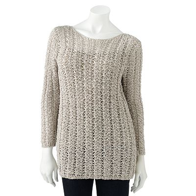 Dana Buchman Ribbed Tape Yarn Sweater