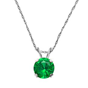 10k white gold lab created emerald pendant kohls 10k white gold lab created emerald pendant mozeypictures Image collections