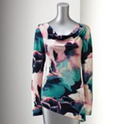Simply Vera Vera Wang Watercolor Drapeneck Top