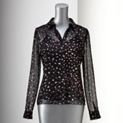 Simply Vera Vera Wang Dot Blouse
