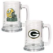 Green Bay Packers 2-pc. Glass Tankard Set
