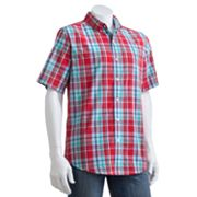 Chaps Shettle Wood Plaid Casual Button-Down Shirt - Big and Tall