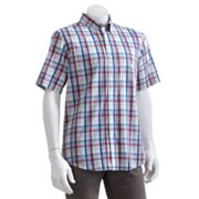 Chaps Plaid Seersucker Casual Button-Down Shirt - Big and Tall