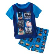 Justice League Grid Pajama Set - Toddler