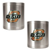 Oklahoma State Cowboys 2-pc. Stainless Steel Can Holder Set