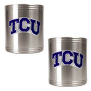 TCU Horned Frogs  2-pc. Stainless Steel Can Holder Set