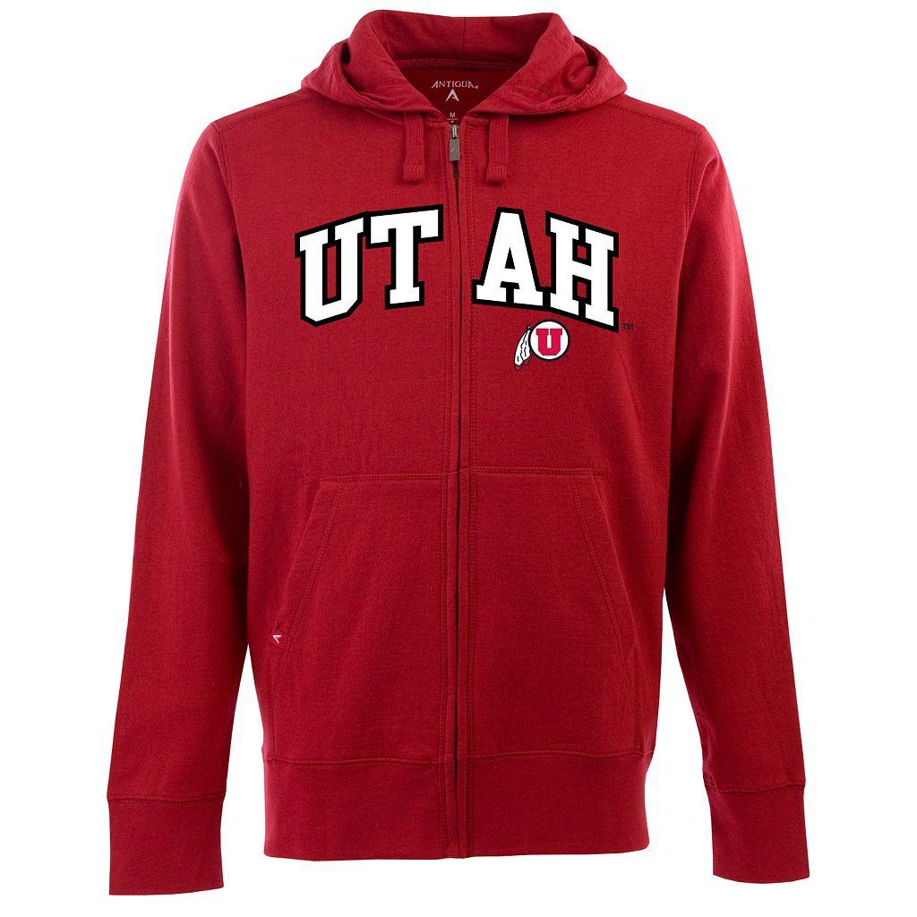 Men's Utah Utes Signature Zip Front Fleece Hoodie