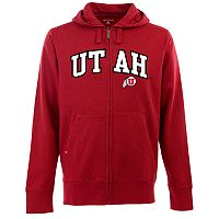 Men's Utah Utes Signature Zip Front Fleece Hoodie