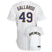 Majestic Milwaukee Brewers Yovani Gallardo Jersey - Men
