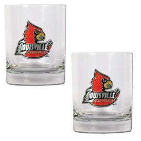 Louisville Cardinals 2-pc. Rocks Glass Set