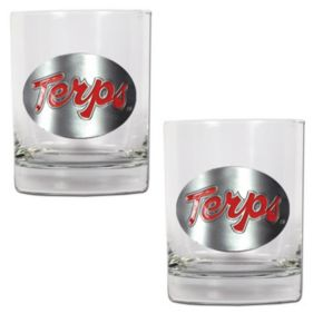 Maryland Terrapins 2-pc. Rocks Glass Set