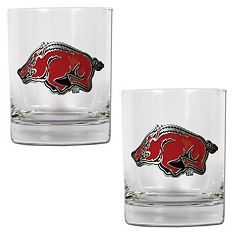 Arkansas Razorbacks 2-pc. Rocks Glass Set