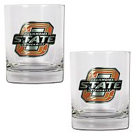 Oklahoma State Cowboys 2 pc Rocks Glass Set