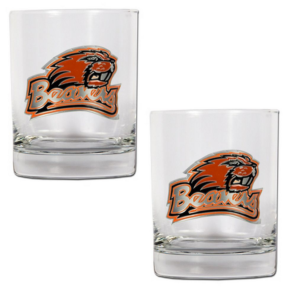 Oregon State Beavers 2-pc. Rocks Glass Set