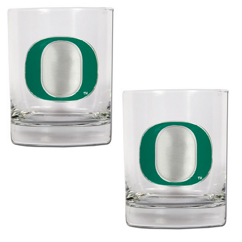 Oregon Ducks 2-pc. Rocks Glass Set