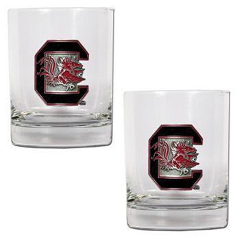 South Carolina Gamecocks 2-pc. Rocks Glass Set