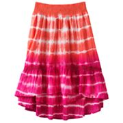 Candie's Tie-Dye Hi-Low Maxi Skirt - Girls 7-16