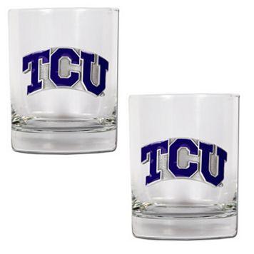 TCU Horned Frogs 2-pc. Rocks Glass Set