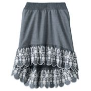 Candie's Floral Chambray Hi-Low Skirt - Girls 7-16
