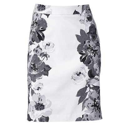 Apt. 9 Floral Pencil Skirt - Petite