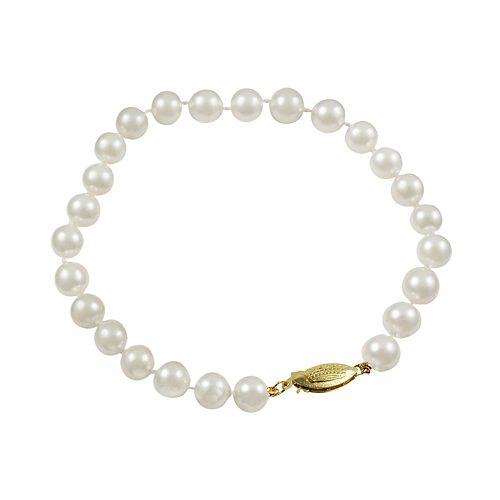 14k Gold Akoya Cultured Pearl Bracelet