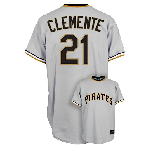 info for 041e7 92238 Majestic Pittsburgh Pirates Roberto Clemente Cooperstown ...