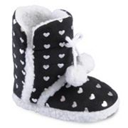 Journee Collection Mimi Heart Slipper Boots - Girls