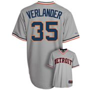 Majestic Detroit Tigers Justin Verlander Cooperstown Collection Jersey - Men