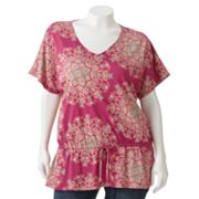 SONOMA life + style Medallion Drop-Waist Top - Women's Plus
