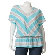 SONOMA life + style Striped Drop-Waist Top - Women's Plus