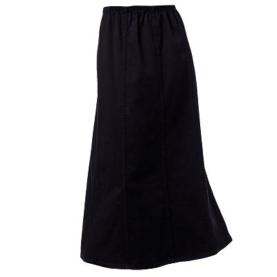 Croft and Barrow Gored Twill Skirt